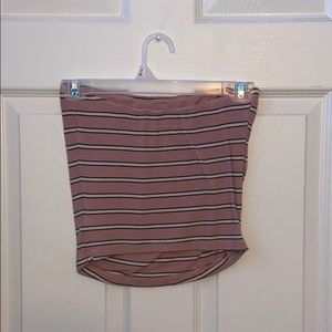 pink striped tube top